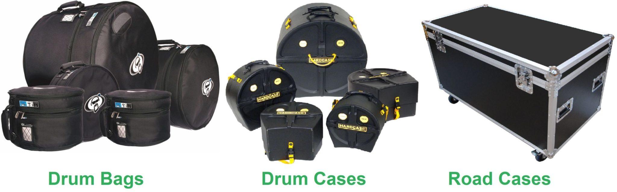 Drum Bags vs Drum Cases vs Road Cases