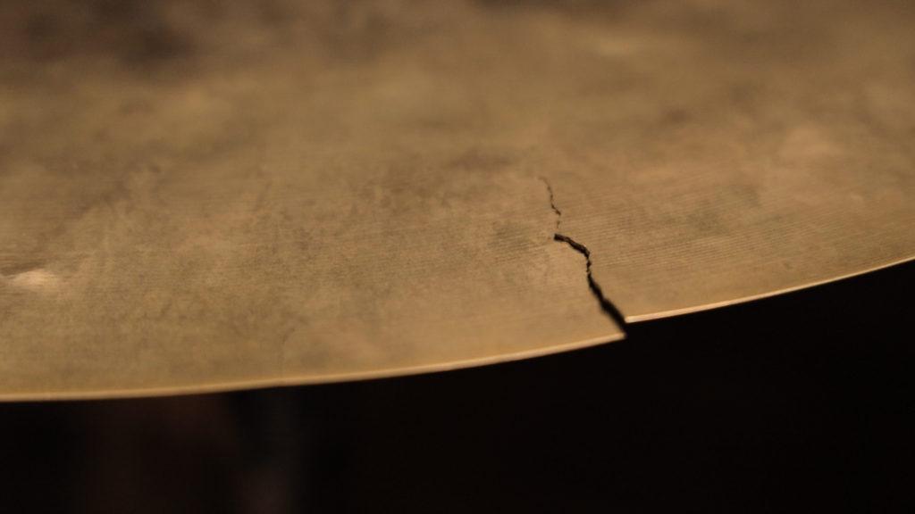 cracked cymbal